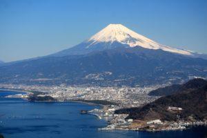 沼津と富士山
