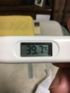扁桃炎の熱