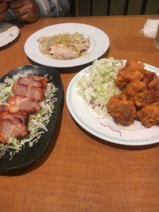口福会館での夕食