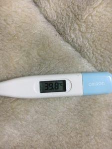 再び出た扁桃炎の熱