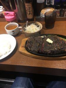 ステーキタケルの黒炭塩サーロインステーキ