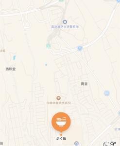 沼津の蕎麦屋ふく田の地図