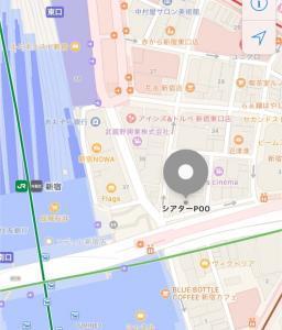 シアターPOOへの地図