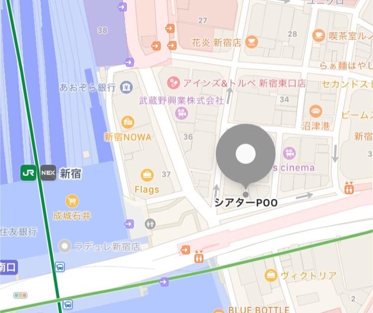 シアターPOOの地図