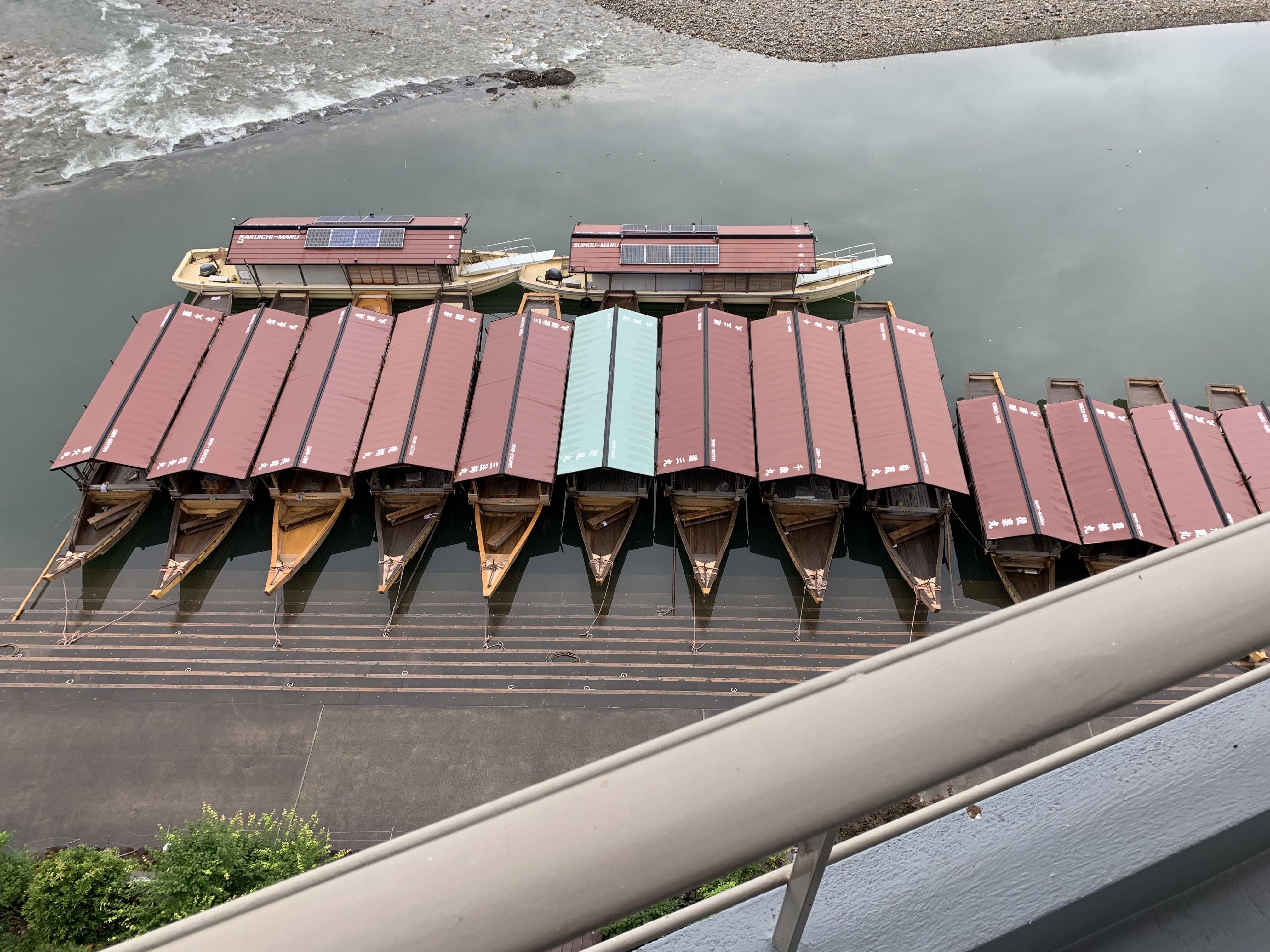 長良川温泉の旅館十八楼の景色