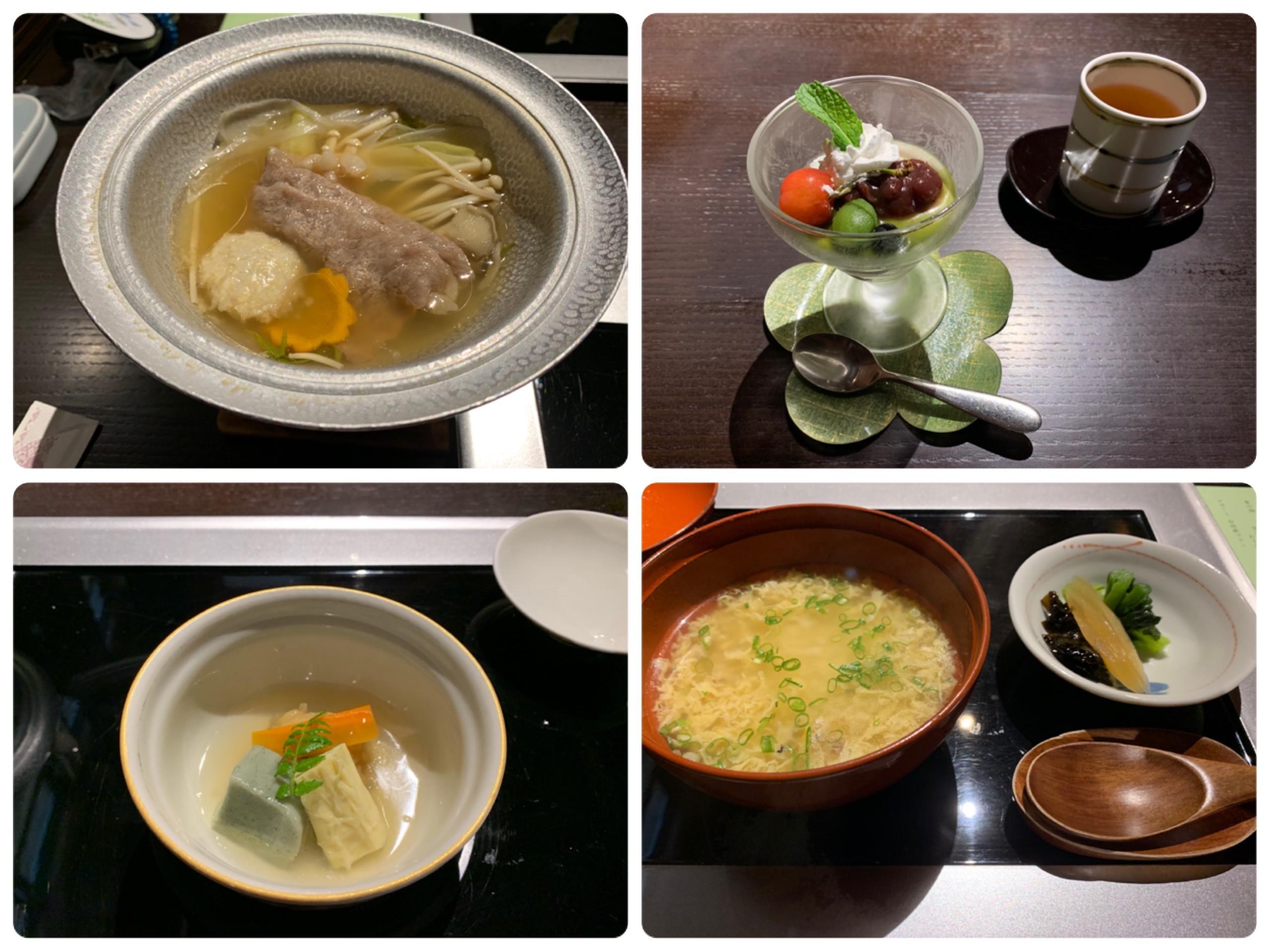 岐阜長良川温泉の旅館十八楼の夕食