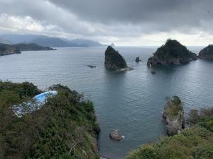 堂ヶ島ホテル天游の部屋からの景色の画像