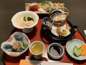 堂ヶ島ホテル天遊の夕食の画像
