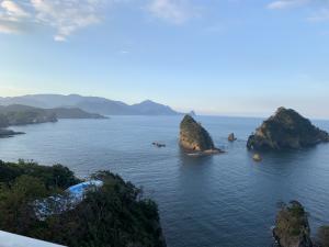 堂ヶ島ホテル天遊の部屋からの景色の画像