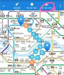 ソウルの地下鉄の路線図の画像