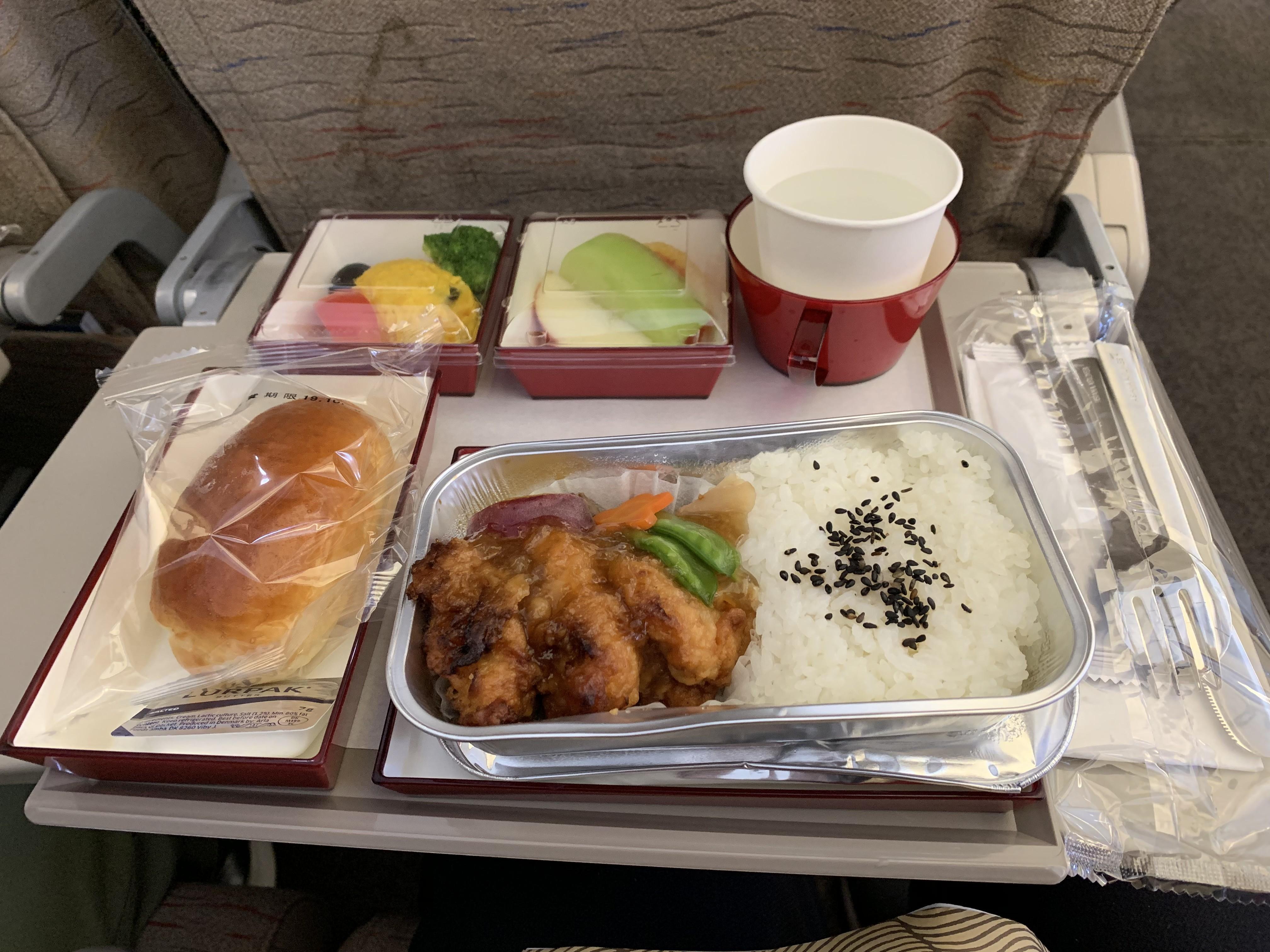 アシアナ航空の機内食の画像