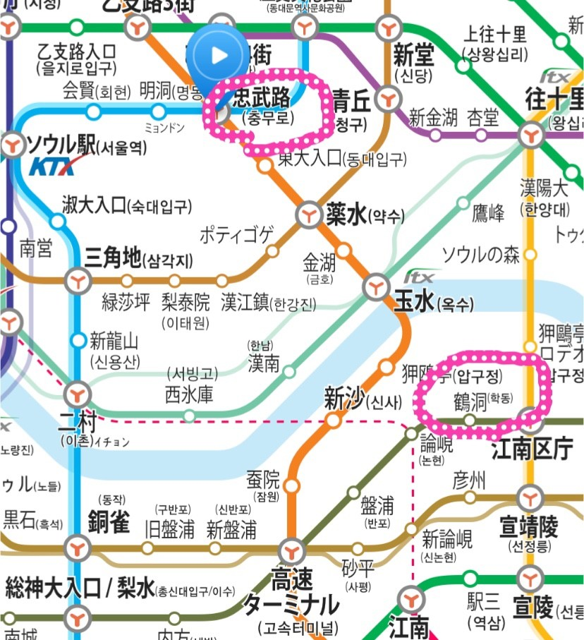 江南ソープDAOへの路線図の画像