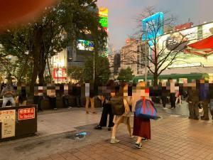 ハロウィン当日の渋谷駅