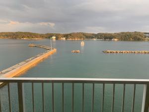 渡鹿野島の旅館福寿壮の部屋からの景色の画像