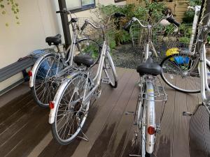 渡鹿野島の福寿荘で貸している自転車の画像
