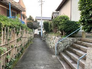 渡鹿野島の路地の画像