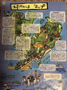 渡鹿野島の地図の画像