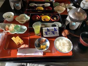渡鹿野島の旅館福寿荘の朝食の画像