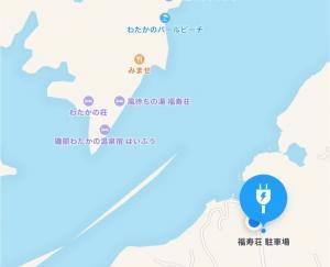 渡鹿野島の旅館福寿壮の駐車場の地図