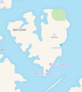 渡鹿野島の旅館福寿壮の地図の画像