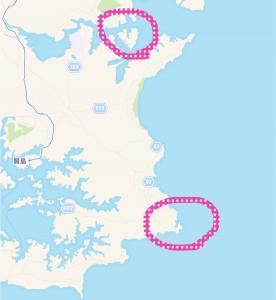 大王埼灯台の地図
