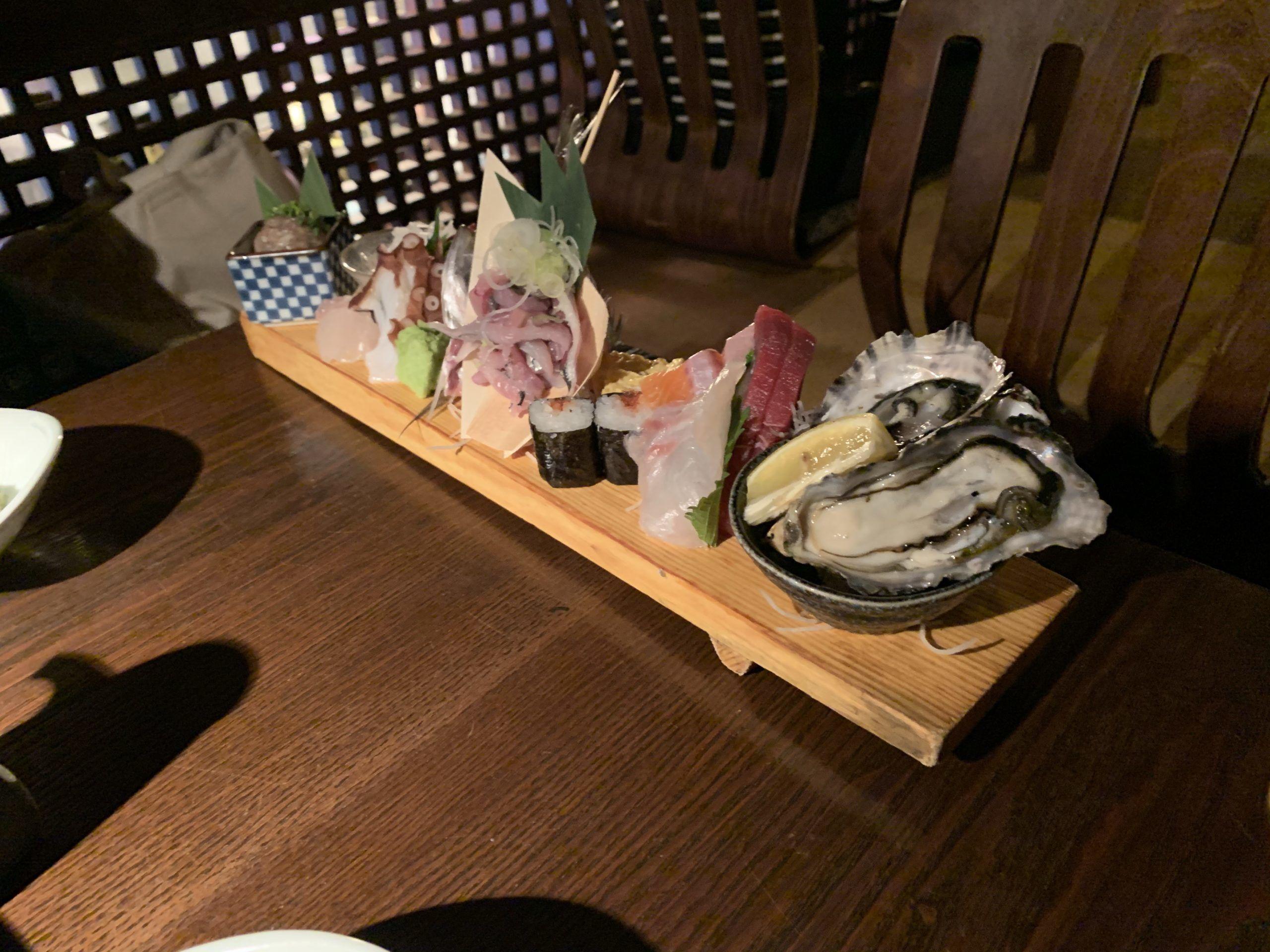 五反田魚金の刺身の画像
