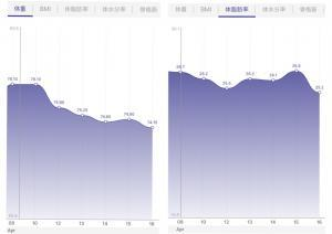 ファスティングダイエットの結果のグラフの画像