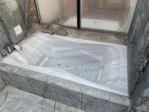 沼津のラブホテルのソフィアの露天風呂の画像