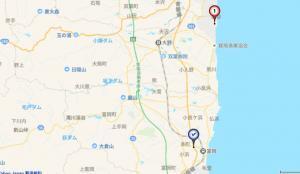 富岡の地図の画像