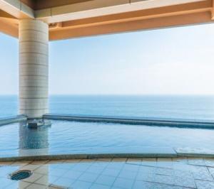 海一望絶景の宿いなとり荘の露天風呂の画像