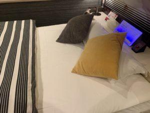天神今泉のラブホのベッドの画像